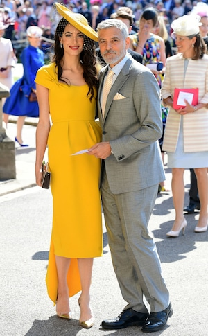 Amal Clooney, George Clooney, Royal Wedding Arrivals